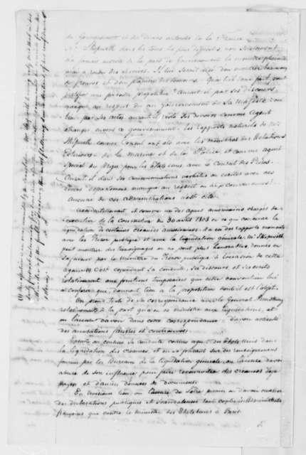 France Conseil D'etat, November 7, 1807, Fulwar Skipwith, in French