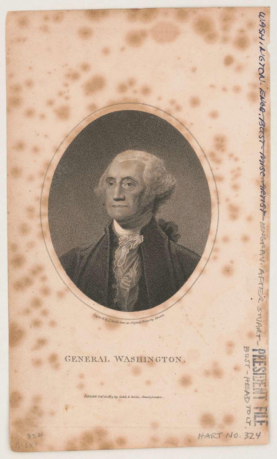 General Washington engrav'd by J. Heath from an original picture by Stewart