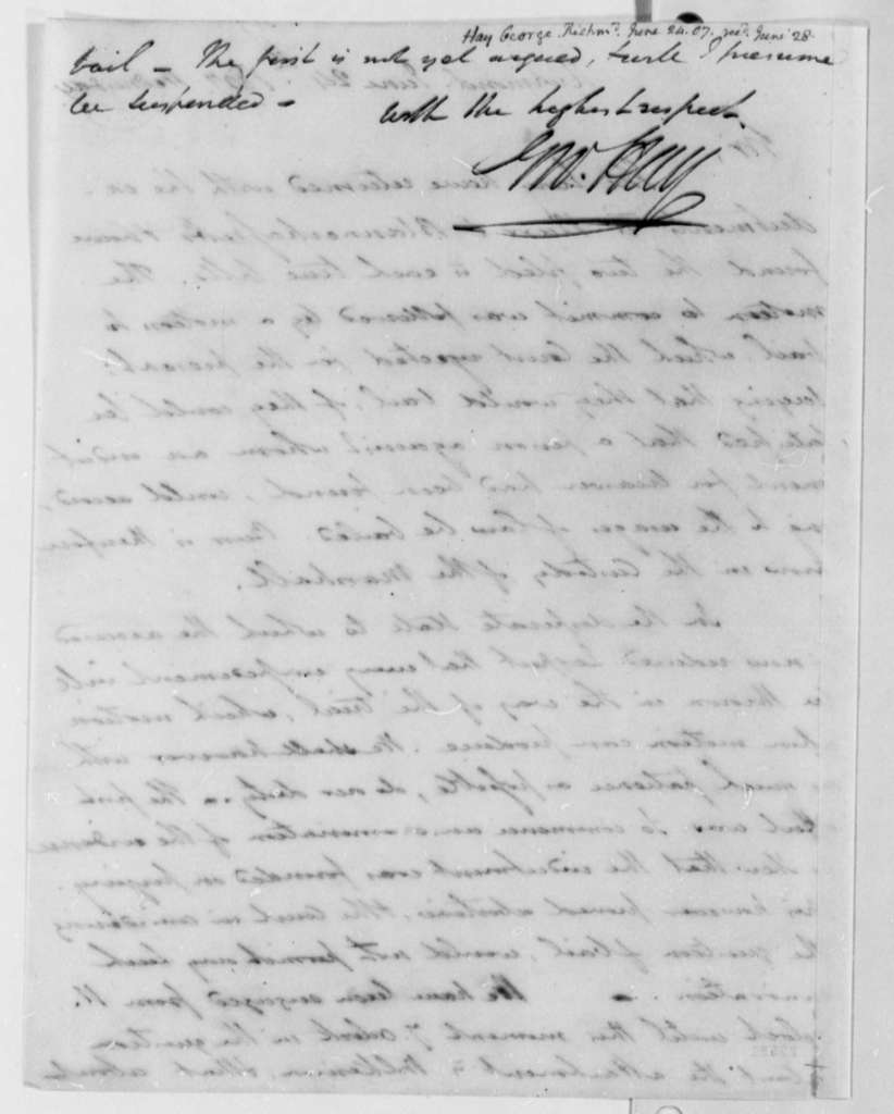 George Hay to Thomas Jefferson, June 24, 1807