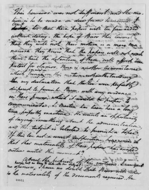 George Hay to Thomas Jefferson, June 9, 1807