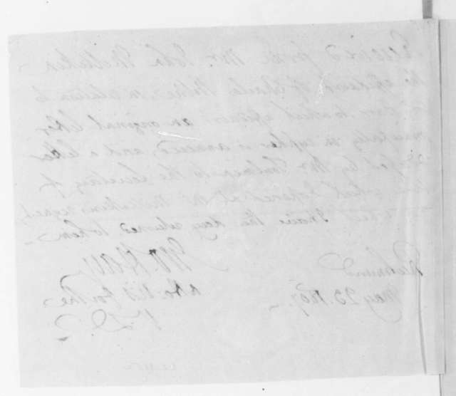 Harry Toulmin to James Madison, April 14, 1807. Includes notes taken in the Mississippi Territory regarding Aaron Burr and a reciept signed by George Hay.