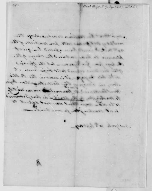 Hunt to Thomas Jefferson, September 30, 1807