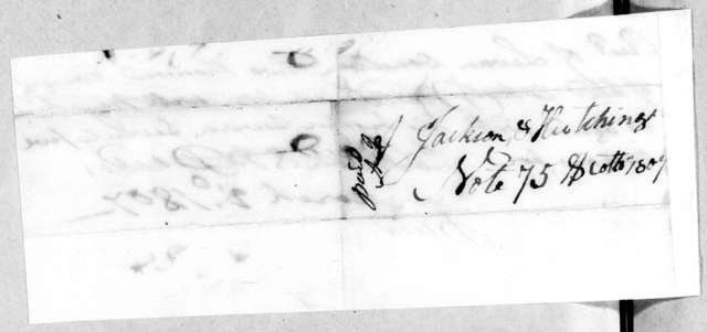 Jackson & Hutchings to Leven Donelson, March 2, 1807