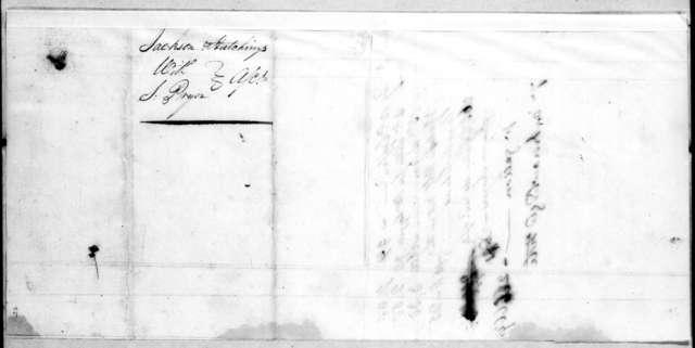 Jackson & Hutchings to Samuel Pryor, August 7, 1807