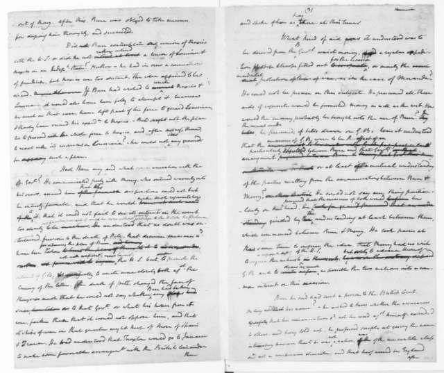 James Madison, January 23, 1807. Notes-Aaron Burr Case, Intv Bollman & Jefferson.
