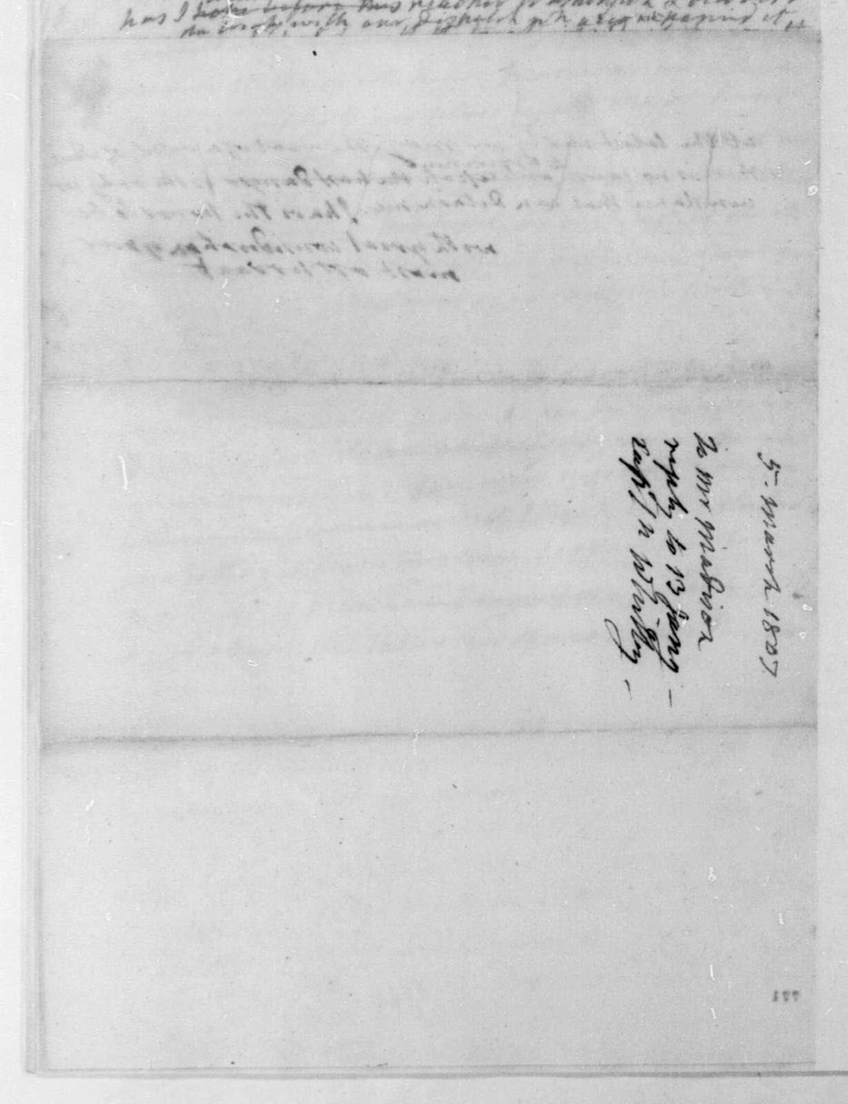 James Monroe to James Madison, March 5, 1807.