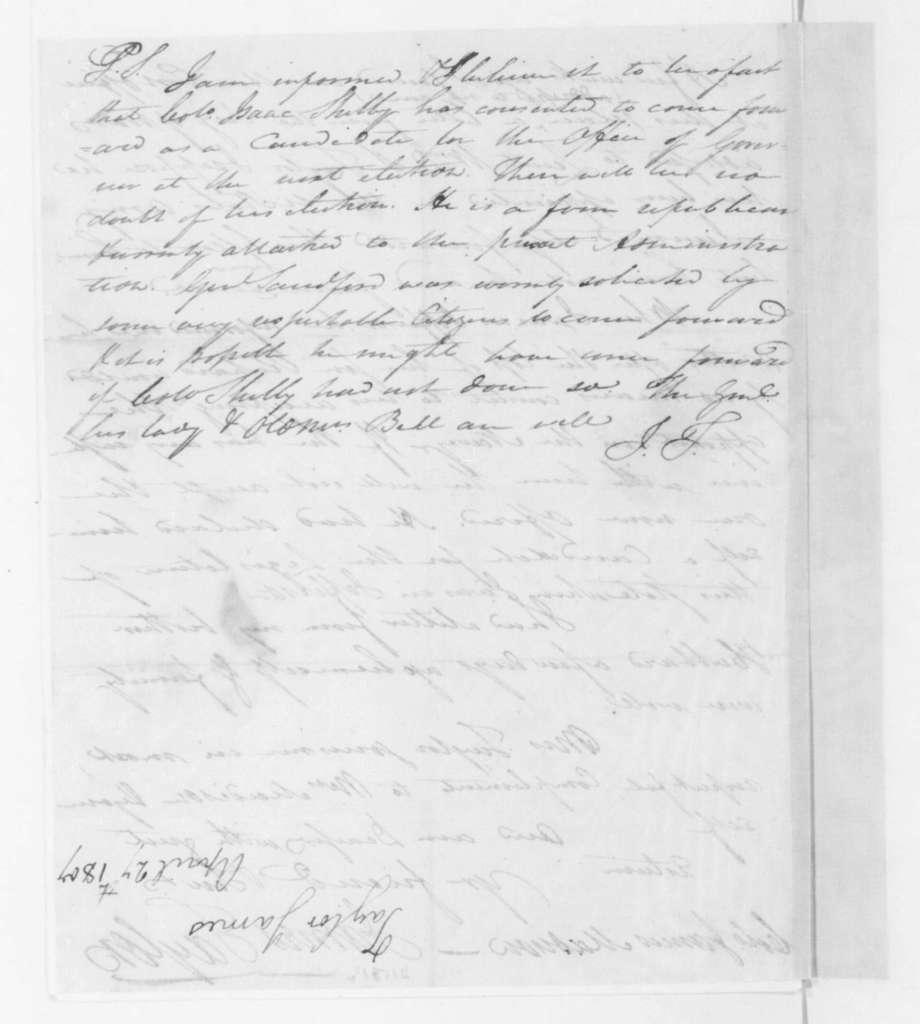 James Taylor to James Madison, April 27, 1807.