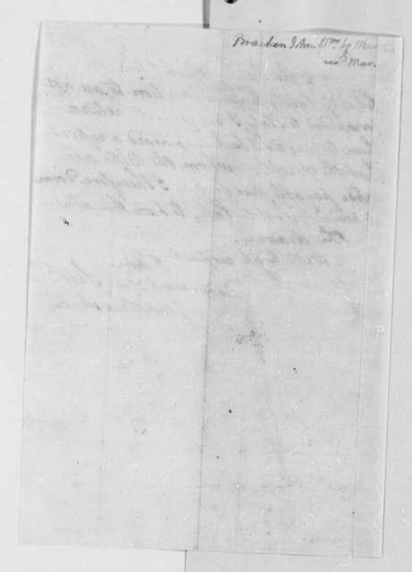 John Bracken to Thomas Jefferson, March 3, 1807