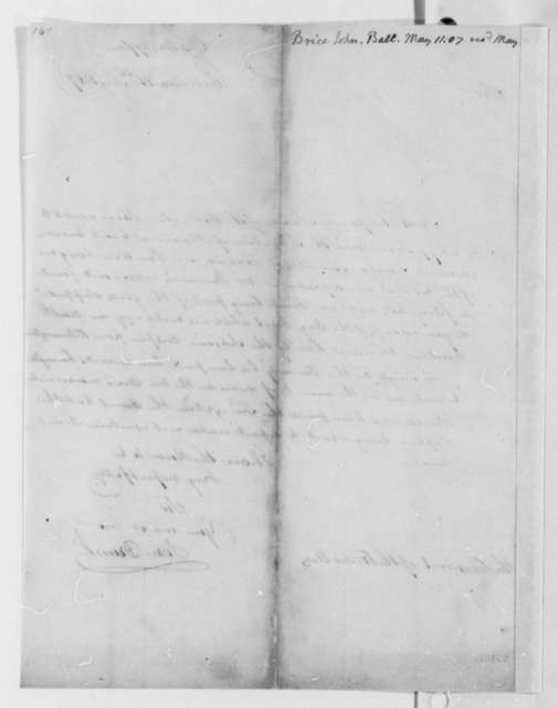 John Brice, Jr. to Thomas Jefferson, May 11, 1807