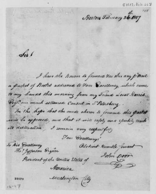John Dorr to Thomas Jefferson, February 26, 1807