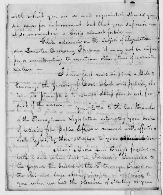 John Dorsey to Thomas Jefferson, December 20, 1807, Pennsylvania Weights and Measures