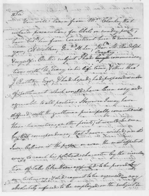 John Nicholas to James Madison, August 22, 1807.