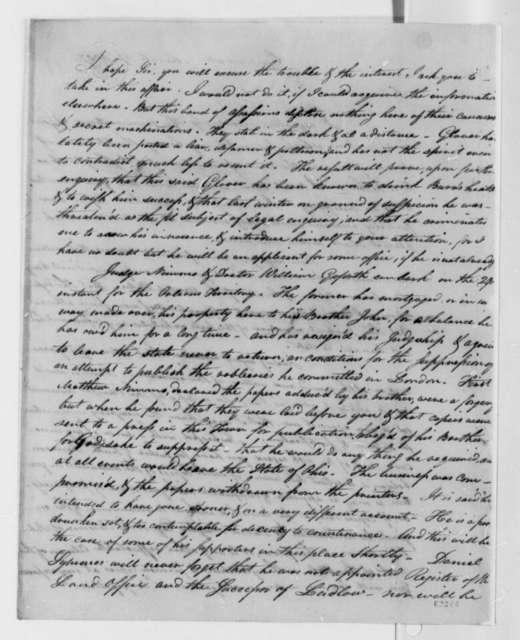 John Smith to Thomas Jefferson, March 27, 1807