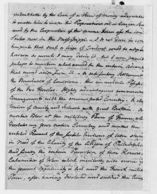 Justus Erich Bollman to Thomas Jefferson, January 26, 1807, with Report