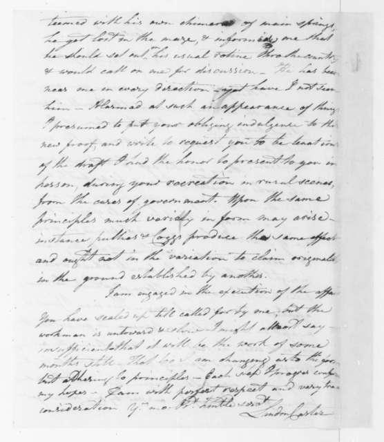 Landon Carter to James Madison, May 8, 1807.