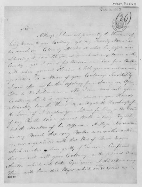 Lewis Bollman to Thomas Jefferson, February 6, 1807