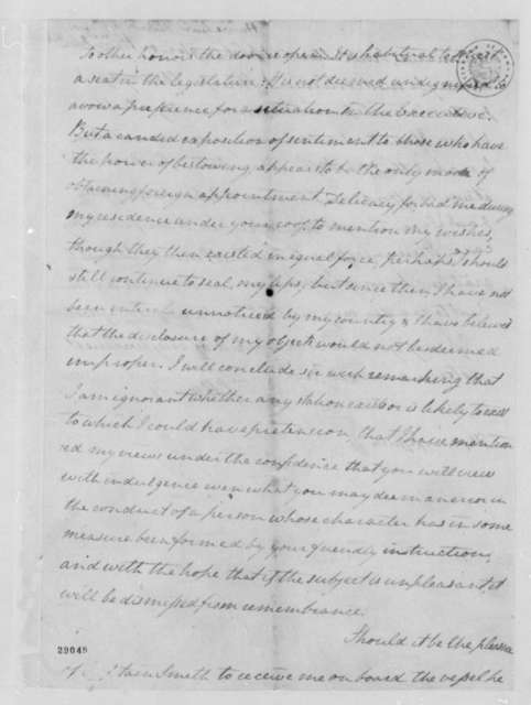 Lewis Harvie to Thomas Jefferson, February 24, 1807