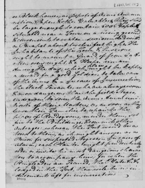 Michael Walton to Thomas Jefferson, December 14, 1807
