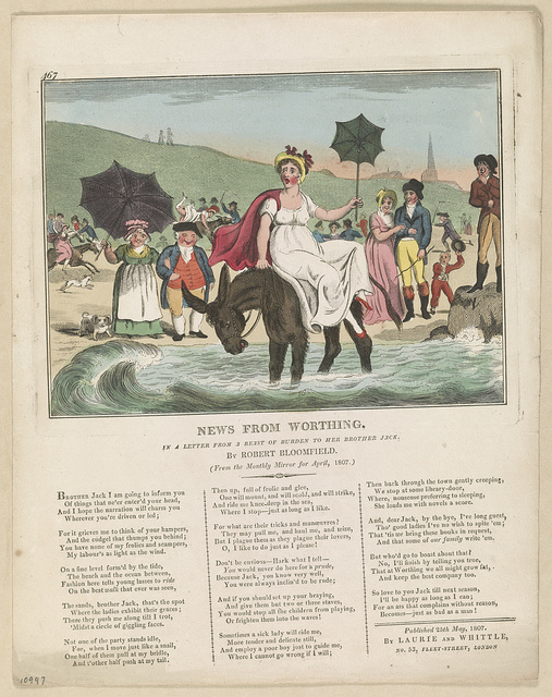 News from Worthing. In a letter from a beast of burden to her brother Jack / [I. Cruikshank ?].