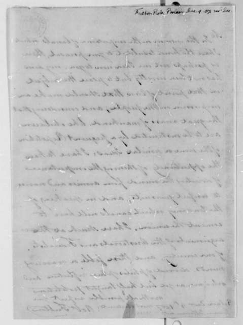 Robert Fulton to Thomas Jefferson, December 9, 1807