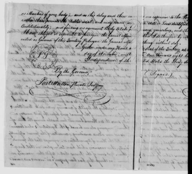 Robert Williams to Mississippi Territory, November 11, 1807