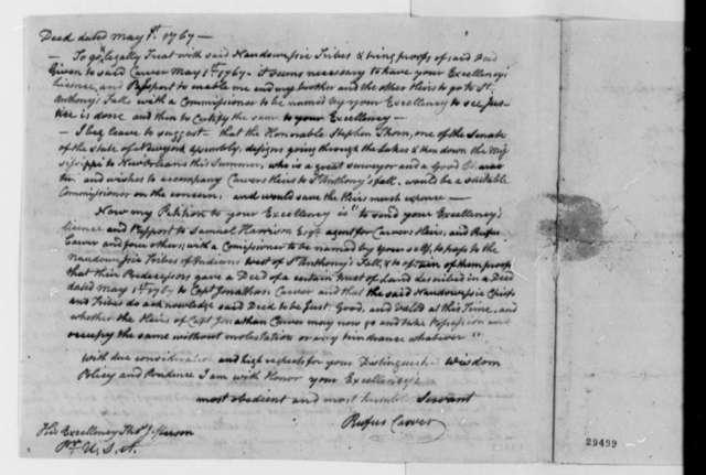 Rufus Carver to Thomas Jefferson, June 6, 1807