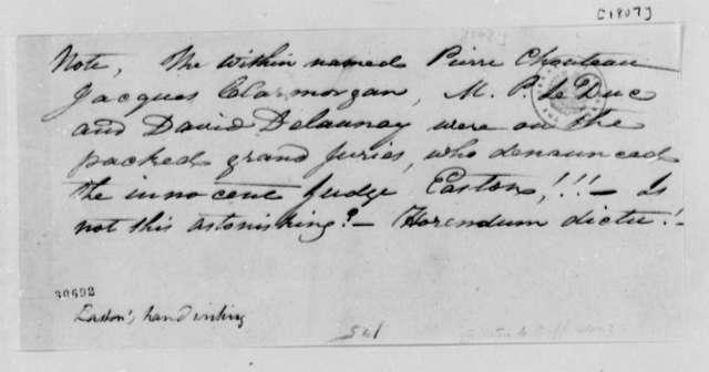 Rufus Easton, 1807, Trial