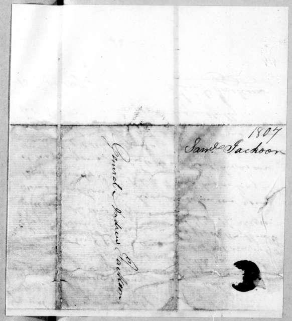 Samuel Dorsey Jackson to Andrew Jackson, February 13, 1807