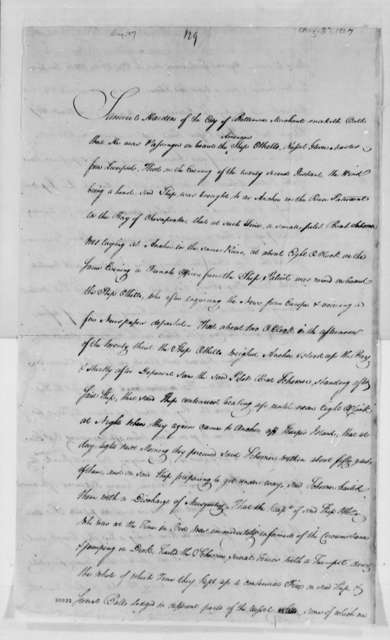 Samuel Harden, August 27, 1807, Affidavit