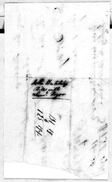 Samuel Pryor to John Hutchings, December 21, 1807