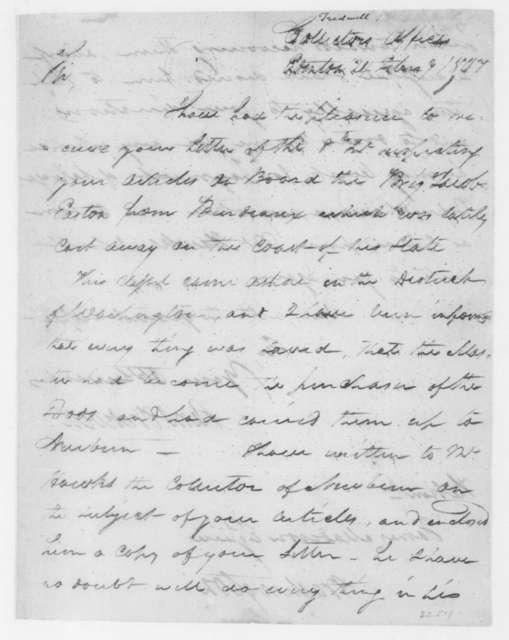 Samuel Tredwell to James Madison, February 24, 1807.