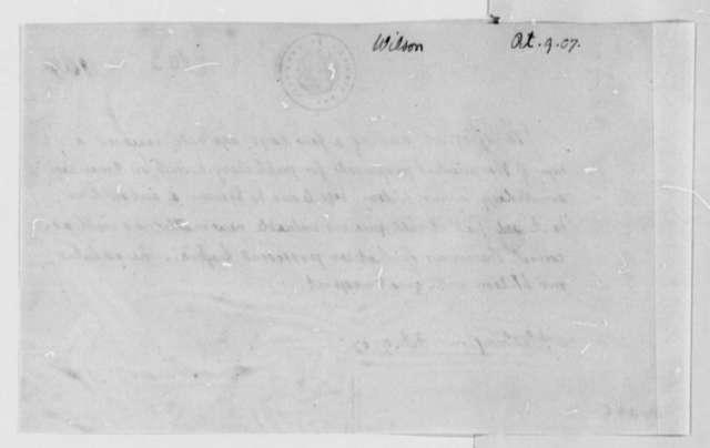 Thomas Jefferson to Alexander Wilson, October 9, 1807