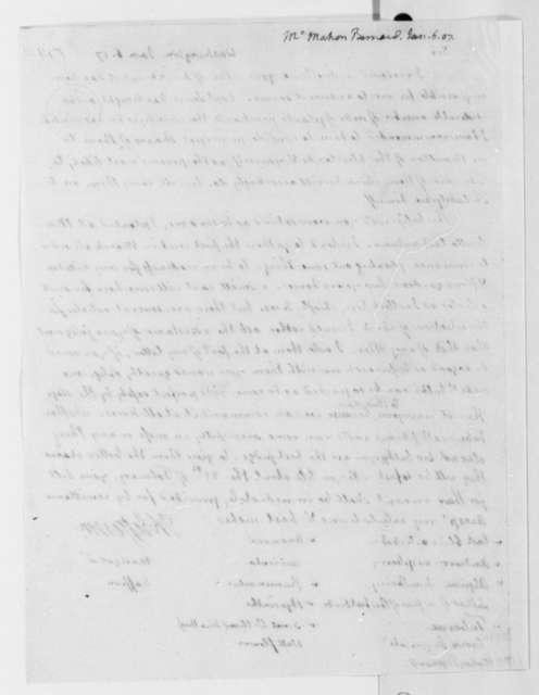 Thomas Jefferson to Bernard McMahon, January 6, 1807