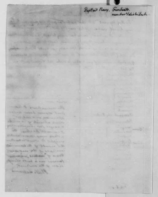 Thomas Jefferson to Henry Dearborn, February 6, 1807, with List of Gunboats in Ports