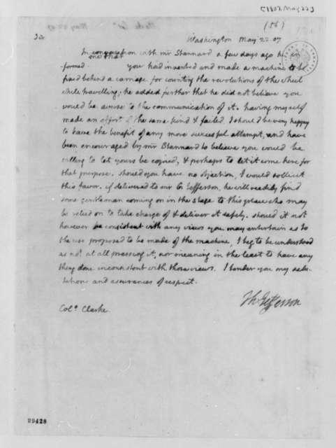 Thomas Jefferson to James Clarke, May 22, 1807