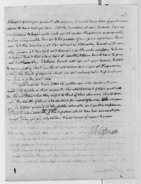 Thomas Jefferson to James Wilkinson, June 21, 1807