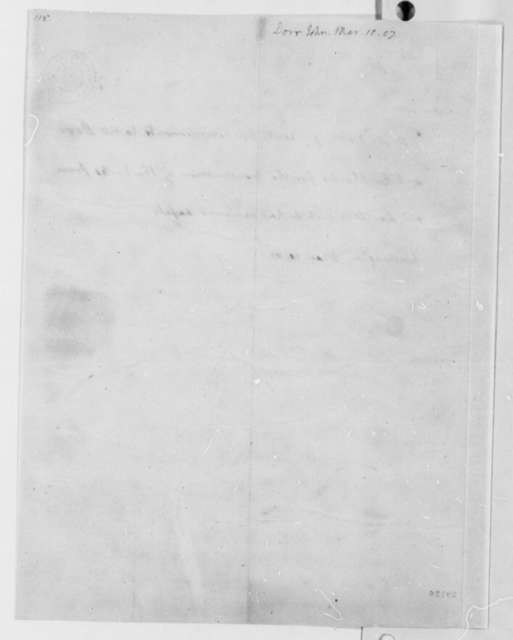 Thomas Jefferson to John Dorr, March 10, 1807