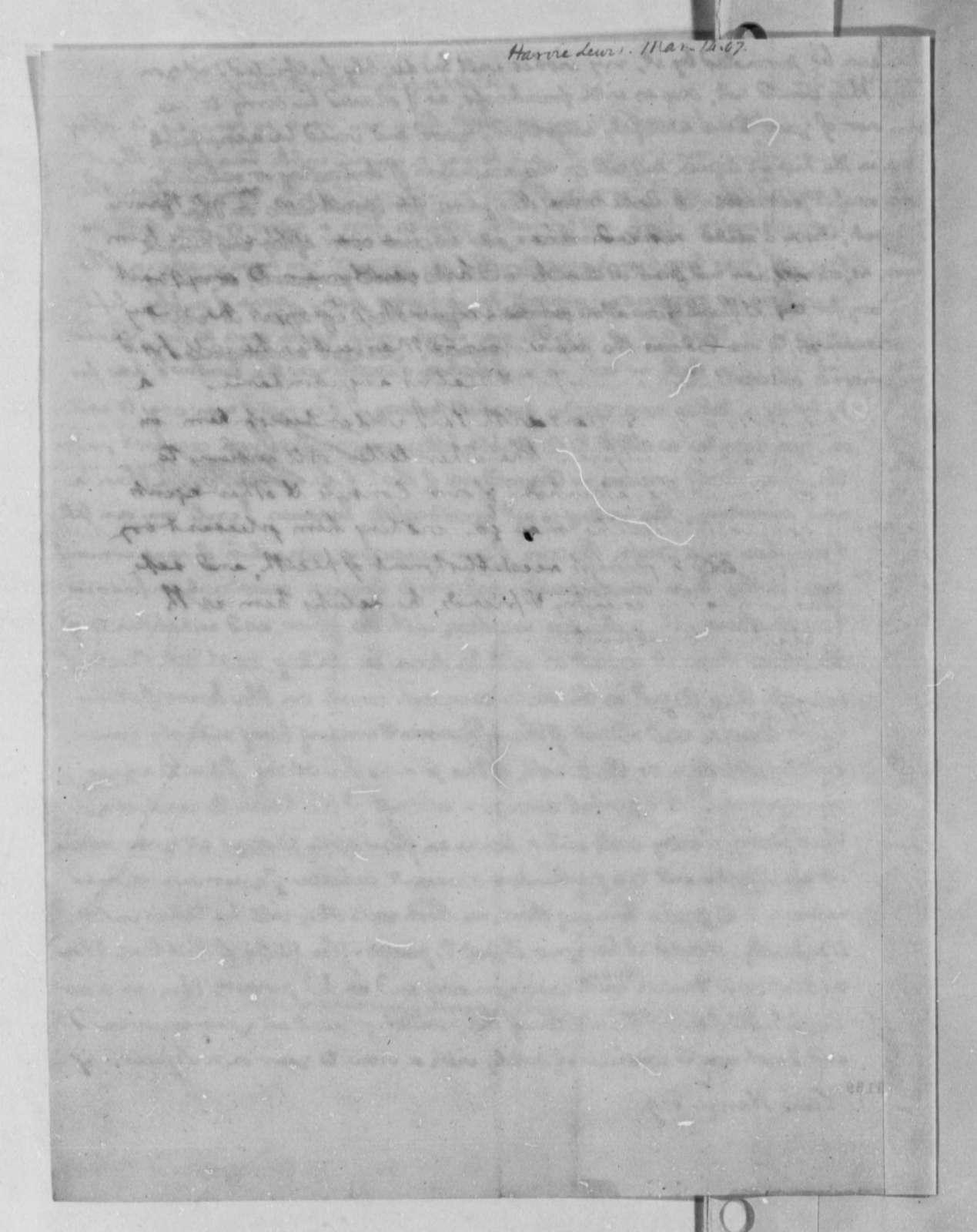 Thomas Jefferson to Lewis Harvie, March 14, 1807