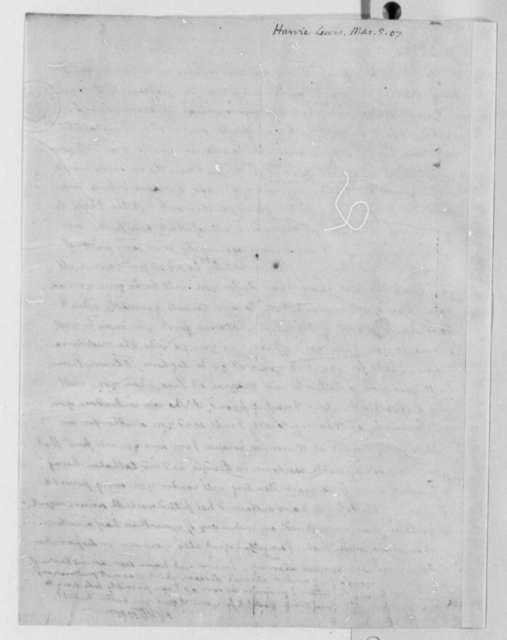 Thomas Jefferson to Lewis Harvie, March 5, 1807