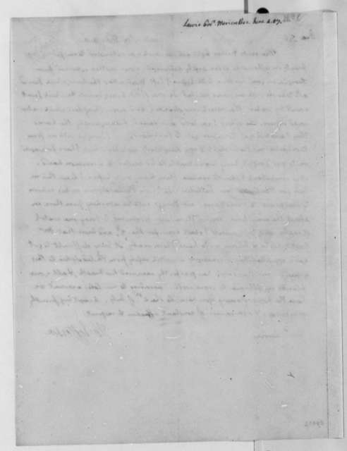 Thomas Jefferson to Meriwether Lewis, June 4, 1807