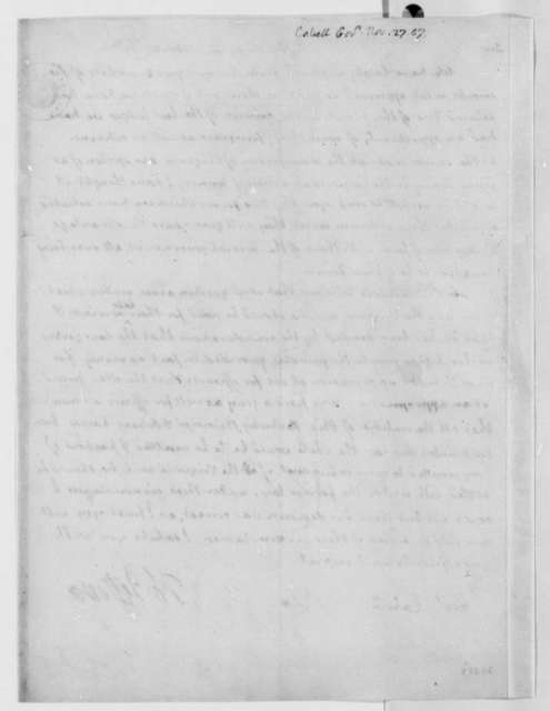 Thomas Jefferson to William H. Cabell, November 27, 1807