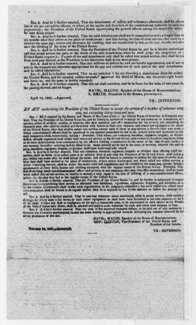 Virginia Argus Extra Newspaper, July 11, 1807