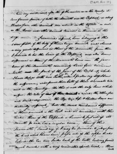 William Clark to Thomas Jefferson, November 10, 1807
