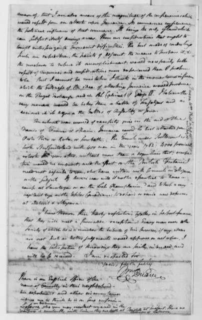 William Duane to Thomas Jefferson, July 8, 1807
