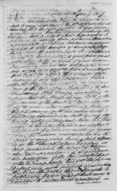 William Jarvis to Thomas Jefferson, January 20, 1807