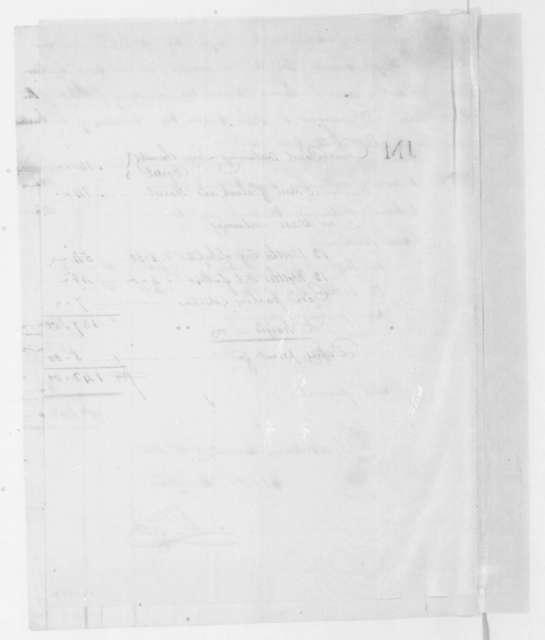 William Lee, November 27, 1807. Invoice of goods for James Madison.