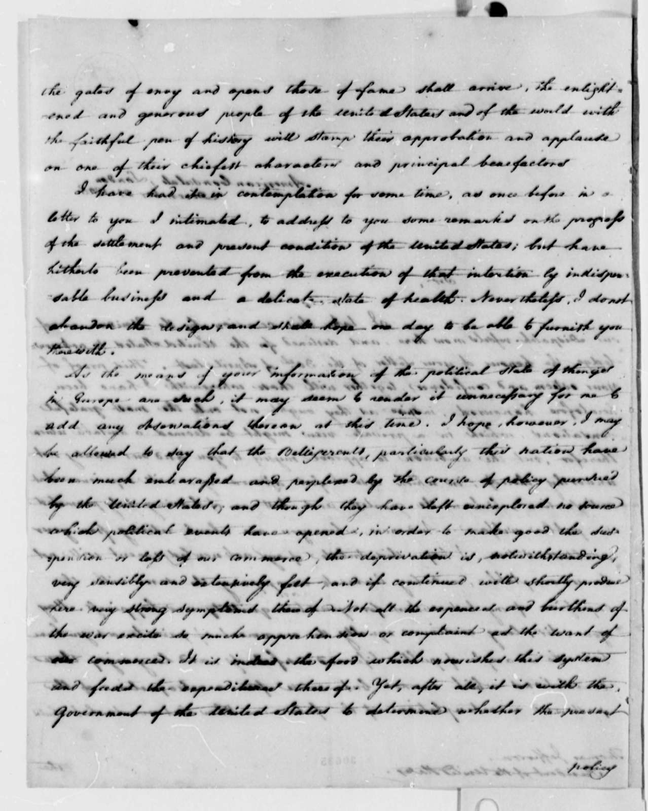 William Lyman to Thomas Jefferson, December 21, 1807