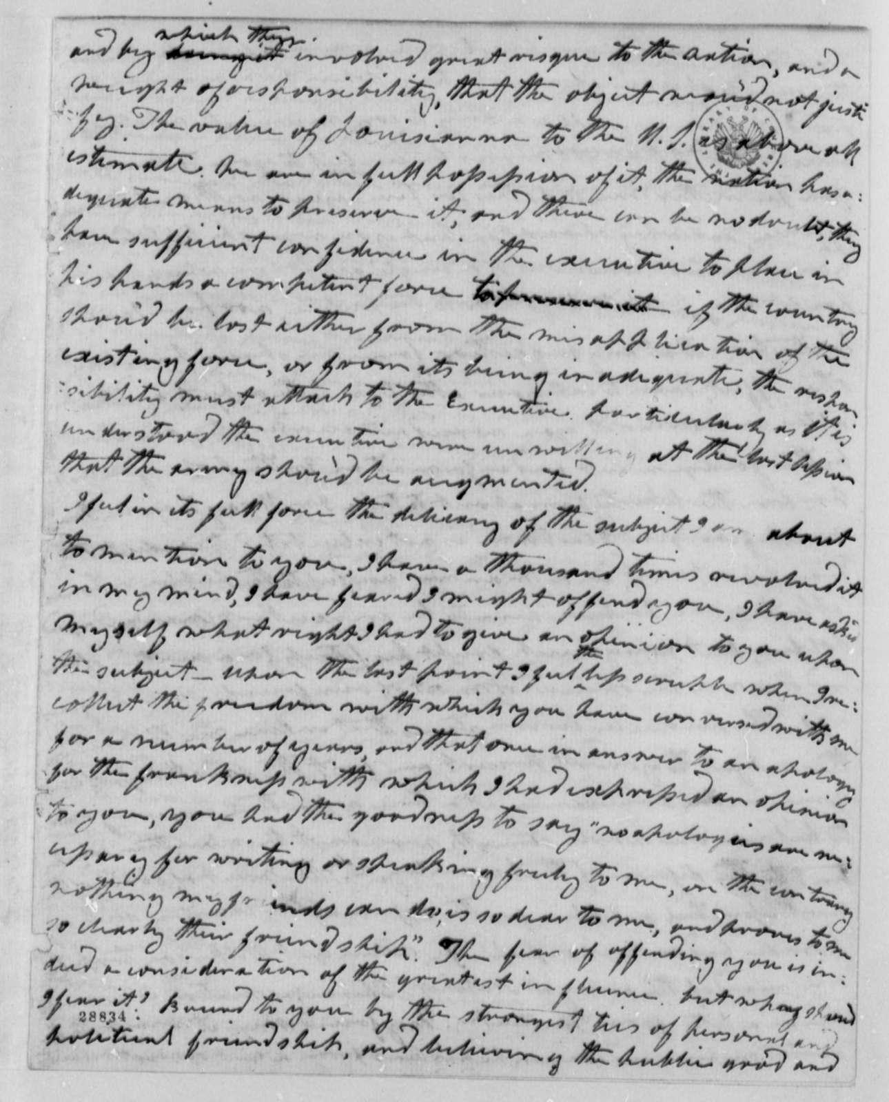 Wilson Cary Nicholas to Thomas Jefferson, January 20, 1807