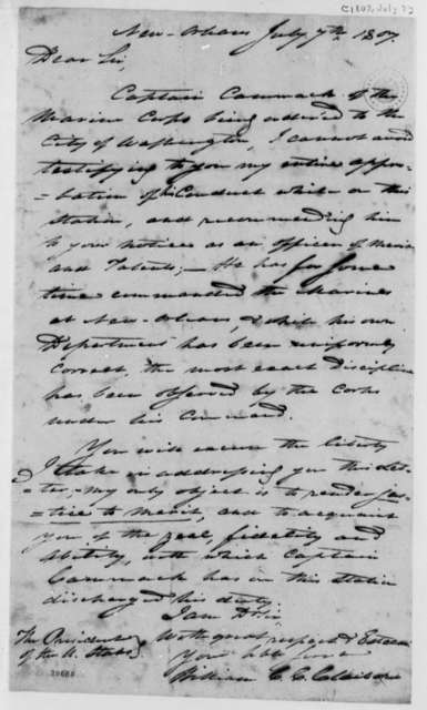 Wilson Cary Nicholas to Thomas Jefferson, July 7, 1807