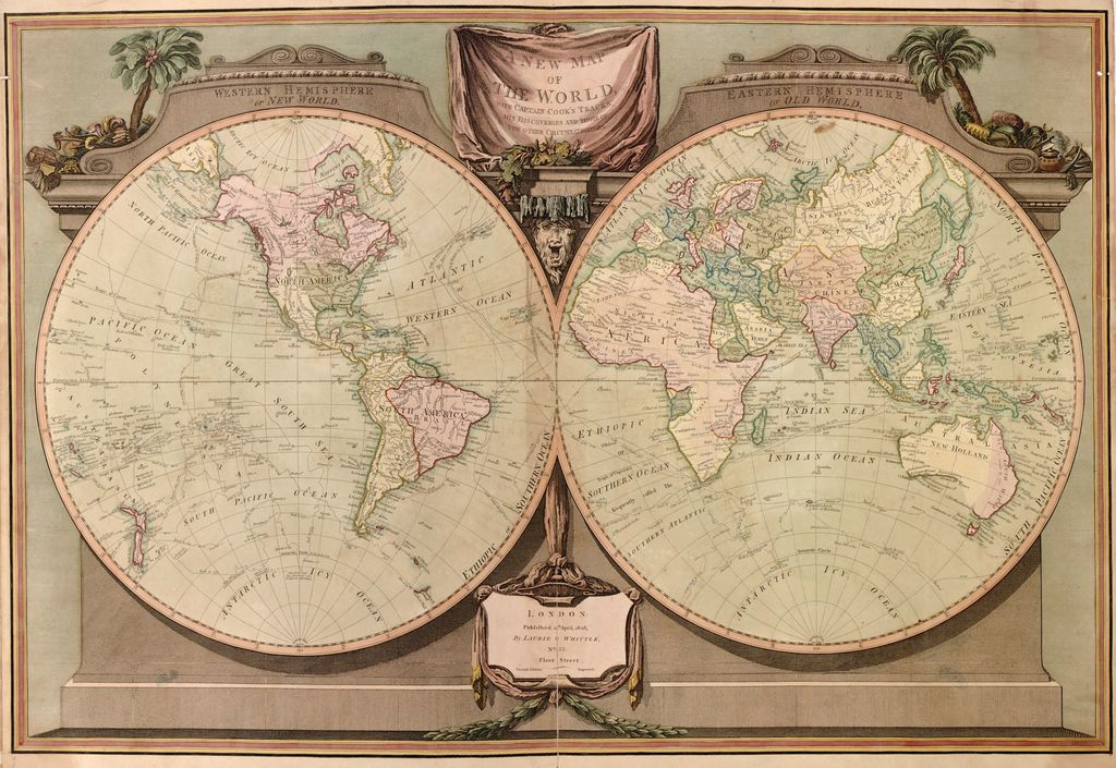 A new and elegant imperial sheet atlas, comprehending general and particular maps of every part of the world : principally compiled from the great French atlas, and others of the most distinguished geographers in Europe, forming the completest collection of single sheet maps hitherto published and rendered particularly convenient by opening without folds.